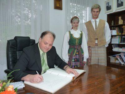 Gimnazijoje viešėjo LR Švietimo ir mokslo ministerijos kancleris Dainius Numgaudis