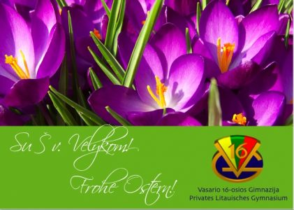 Vasario 16-osios gimnazija linki gražių Velykų!