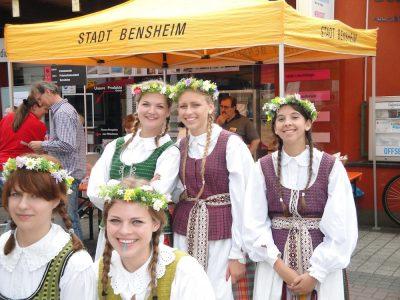 Gimnazistai tarptautiniame kultūrų festivalyje Bensheime