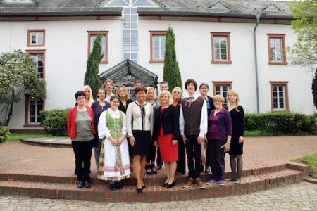 Hesseno žemės Europos ministrės Lucia Puttrich vizitas Vasario 16-osios gimnazijoje