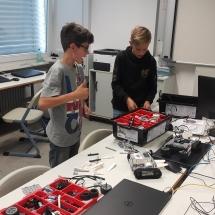"""Lego """"Mindstorms"""" būrelio akimirkos (Foto: R.Lendraitis)"""