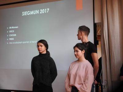 SiegMun 2018 – Präsentation der Delegierten