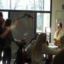 Praktische Filmübungen im Unterricht – Kurzfilmcoaching in Klasse 11 (Foto: Dr.G.Hoffmann)