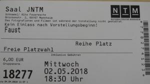 "Theaterbesuch ""Faust I"" im Schnawwl (Foto: Dr. G. Hoffmann)"