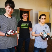 """Lego-Mindstorms"" robotų kova (Foto: R. Lendraitis)"