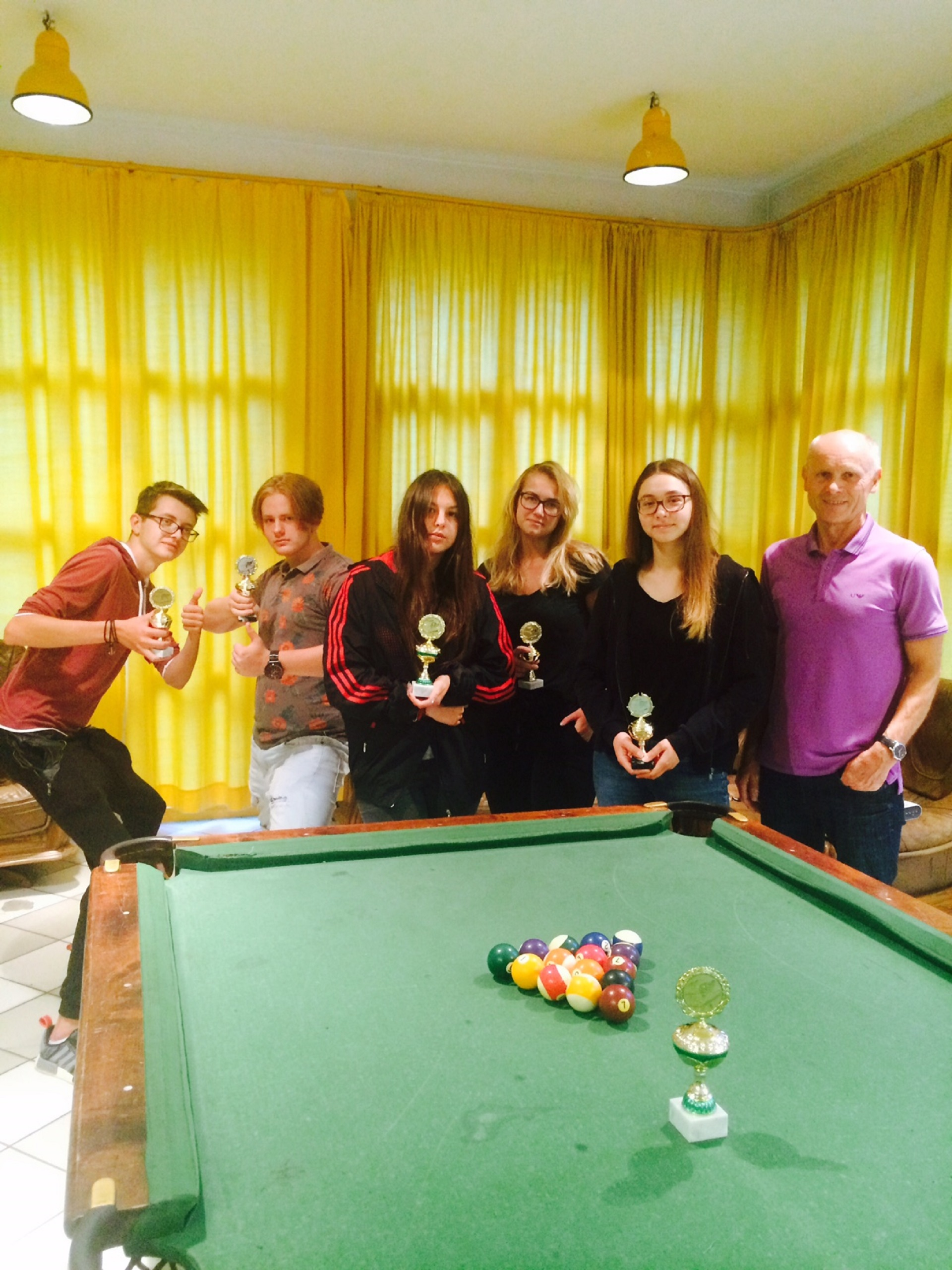 Biliardo turnyras M. Jacinevičiaus vardo taurei laimėti