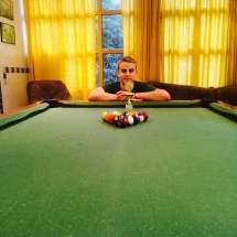 Biliardo turnyras M. Jacinevičiaus vardo taurei laimėti (Foto: E. Jankūnas)