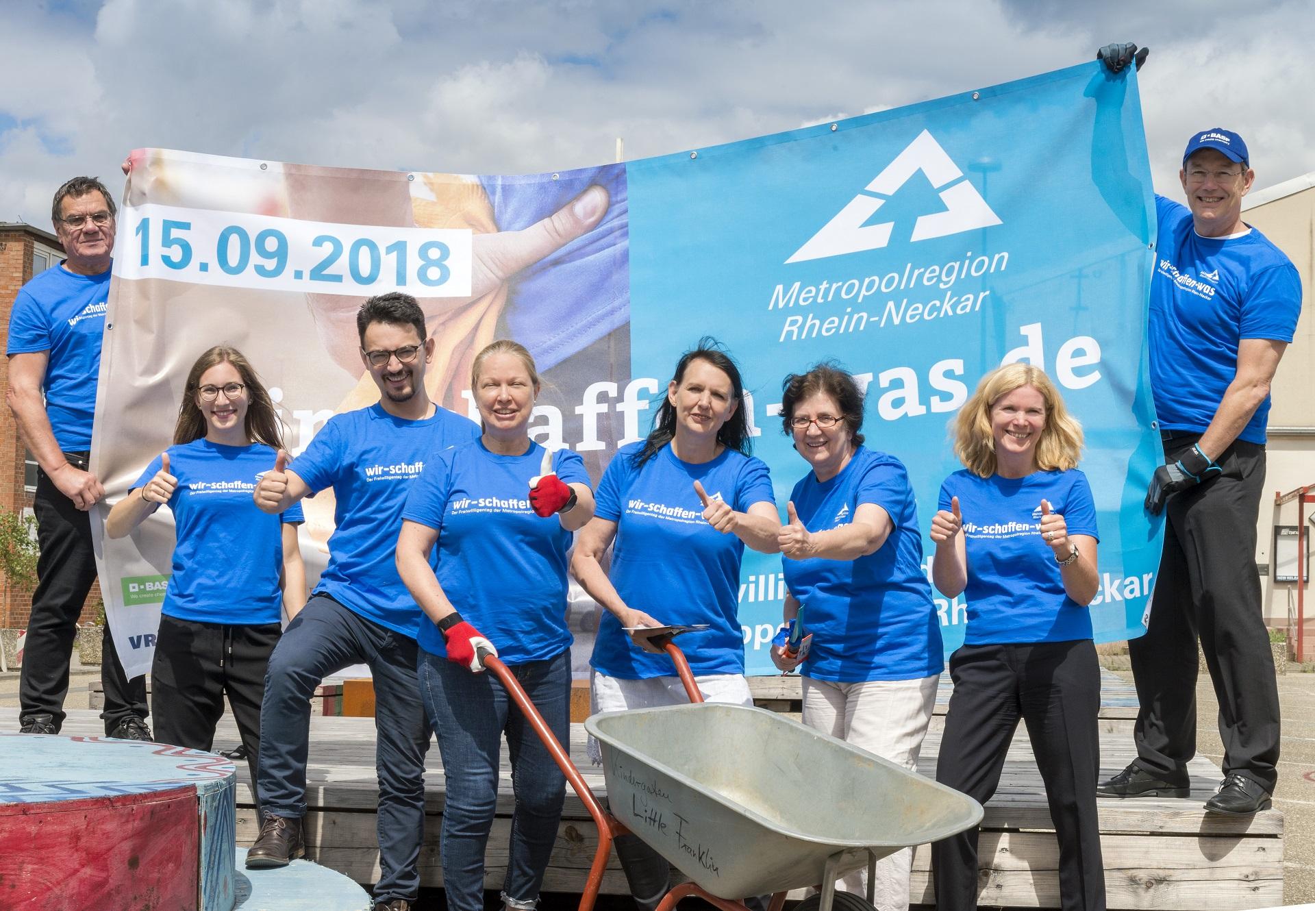 """Sei.Da.Bei: """"Wir schaffen was – Freiwilligentag 2018 Metropolregion Rhein-Neckar"""""""
