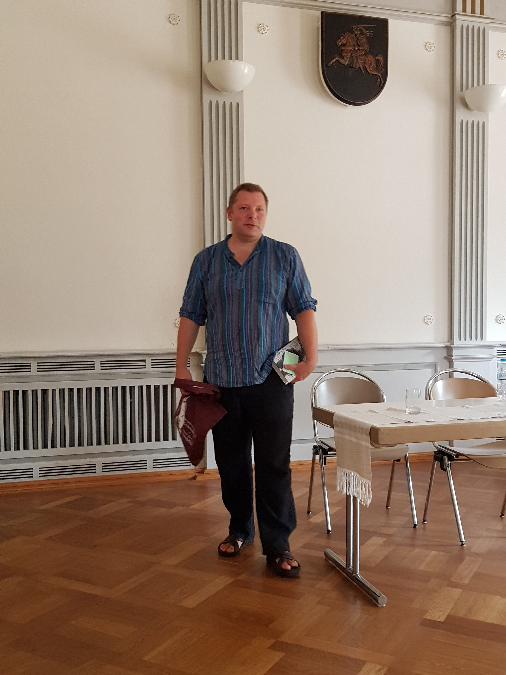 Susitikimas su rašytoju Rimantu Kmita (Foto: A. D'Elia)