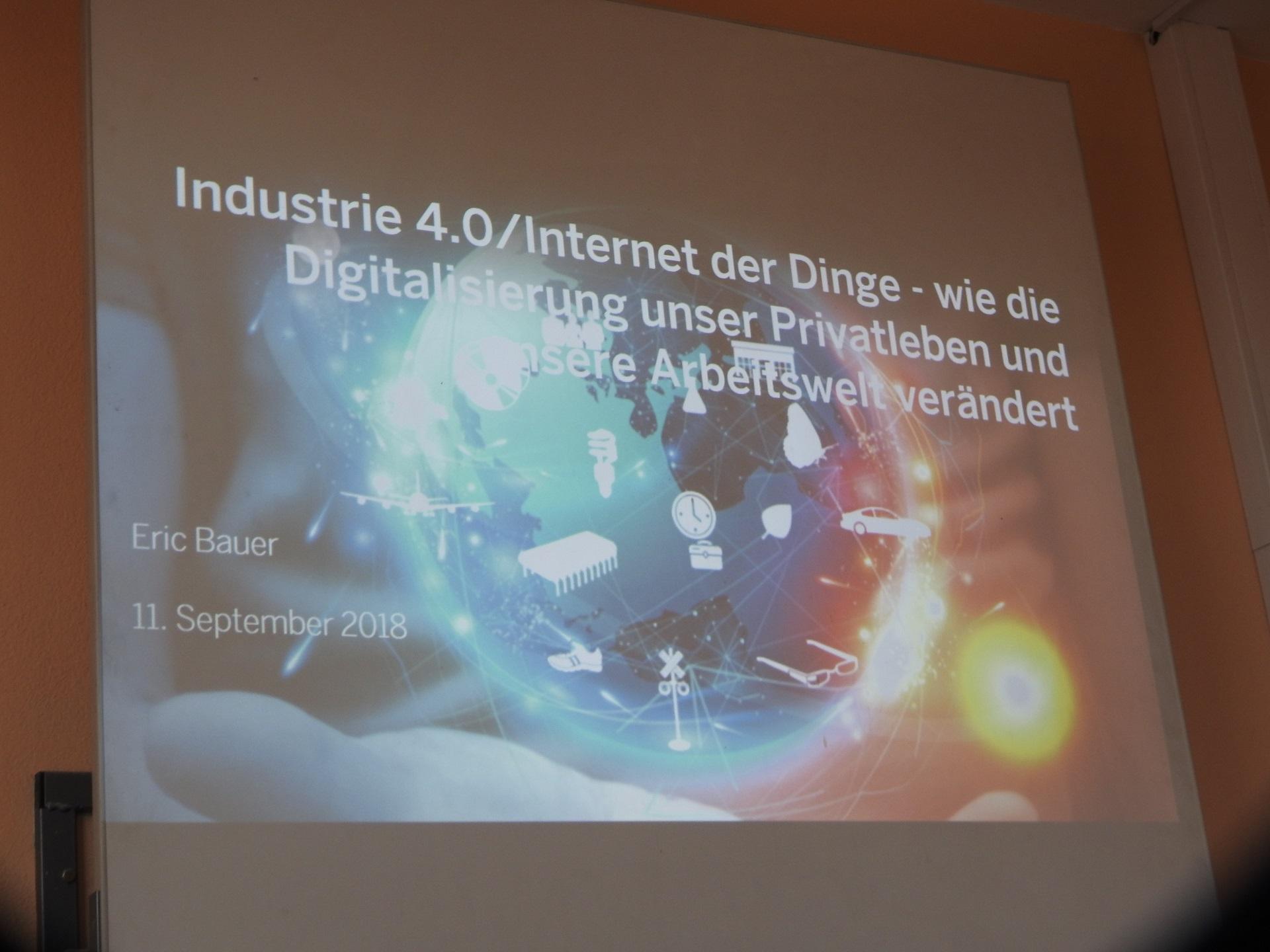 Wie werden wir leben, wie arbeiten? Industrie 4.0 und Digitalisierung (Foto: Dr. G. Hoffmann)