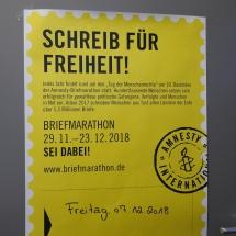 """Aktionstag """"Schreib für Freiheit!"""" – Briefmarathon von Amnesty International zum Tag der Menschenrechte (Foto: Dr. G. Hoffmann)"""