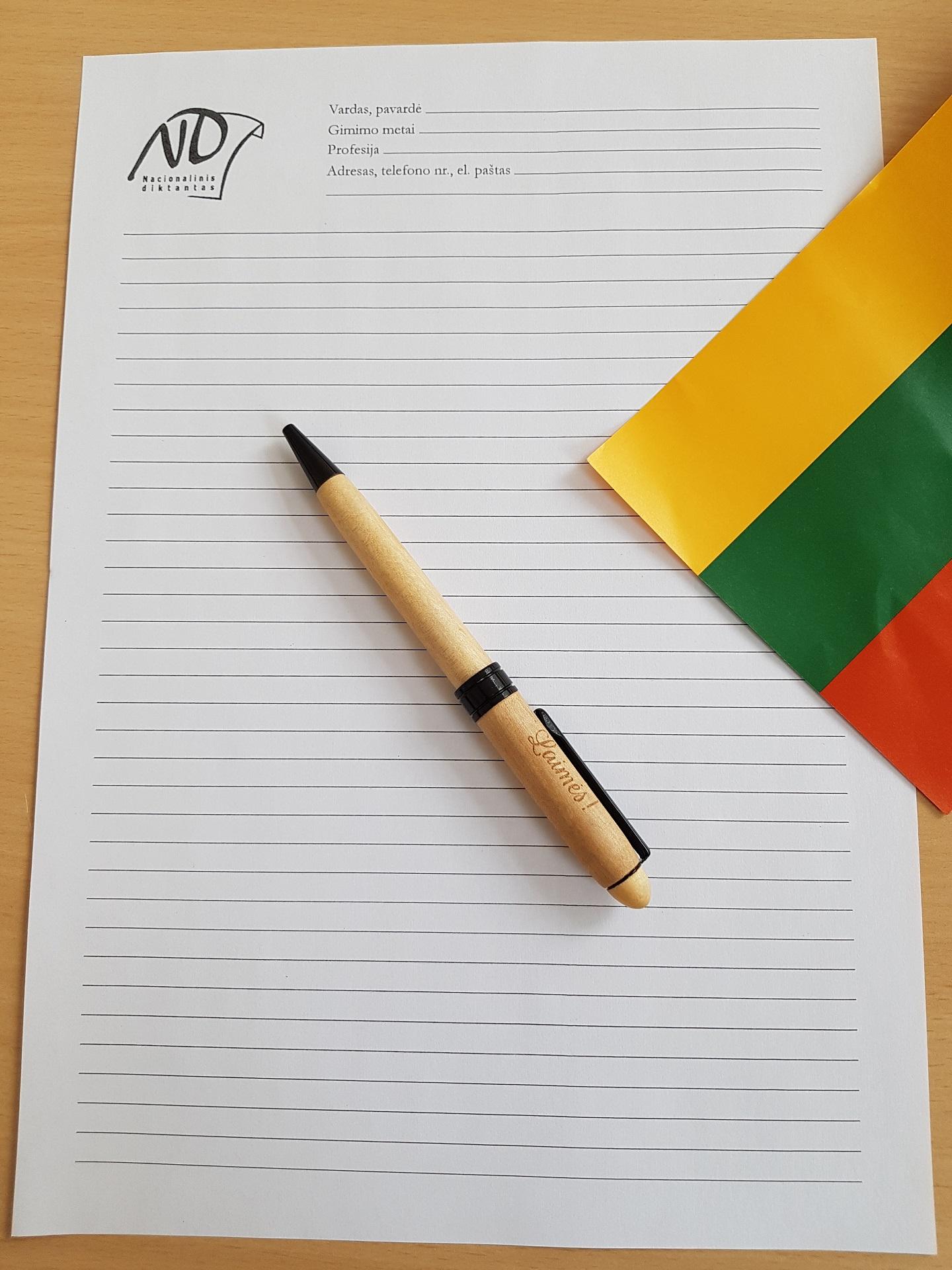 Kviečiame rašyti Nacionalinį diktantą 2019!