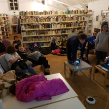 """Katalikiško jaunimo grupės ,,naktinės pamokos"""" (Foto: D. Kriščiūnienė)"""