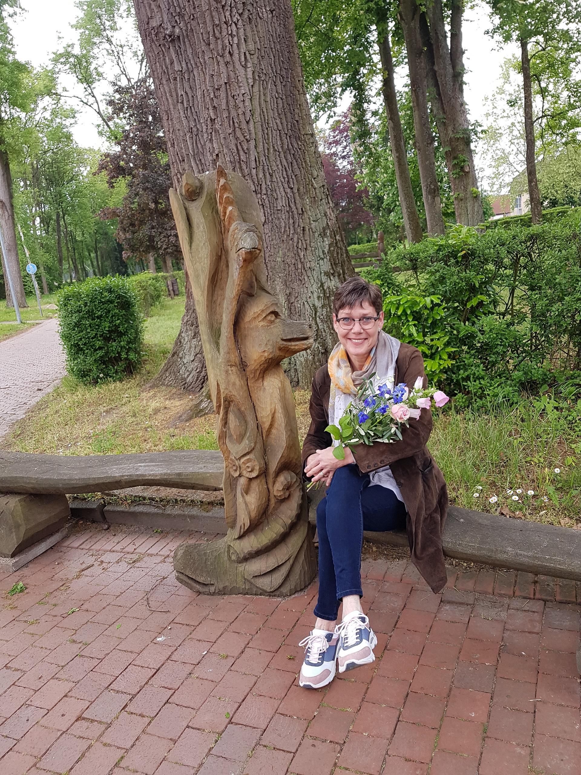 Balandžio mėnesį mūsų matematikos mokytoja Suzanne Stoehr šventė savo 50 metų jubiliejų! (Foto: A. D'Elia)