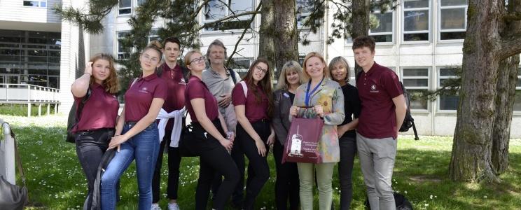 Besuch in der Europäischen Schule in Luxemburg