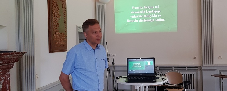 Gimnazijoje vieši svečiai iš Punsko Kovo 11-osios licėjaus