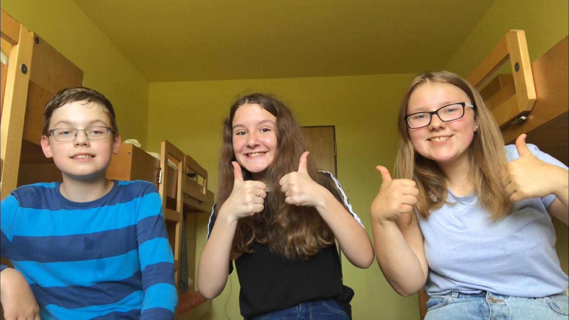 Klassenfahrt der Klasse 7 nach Erbach zum Filmprojekt