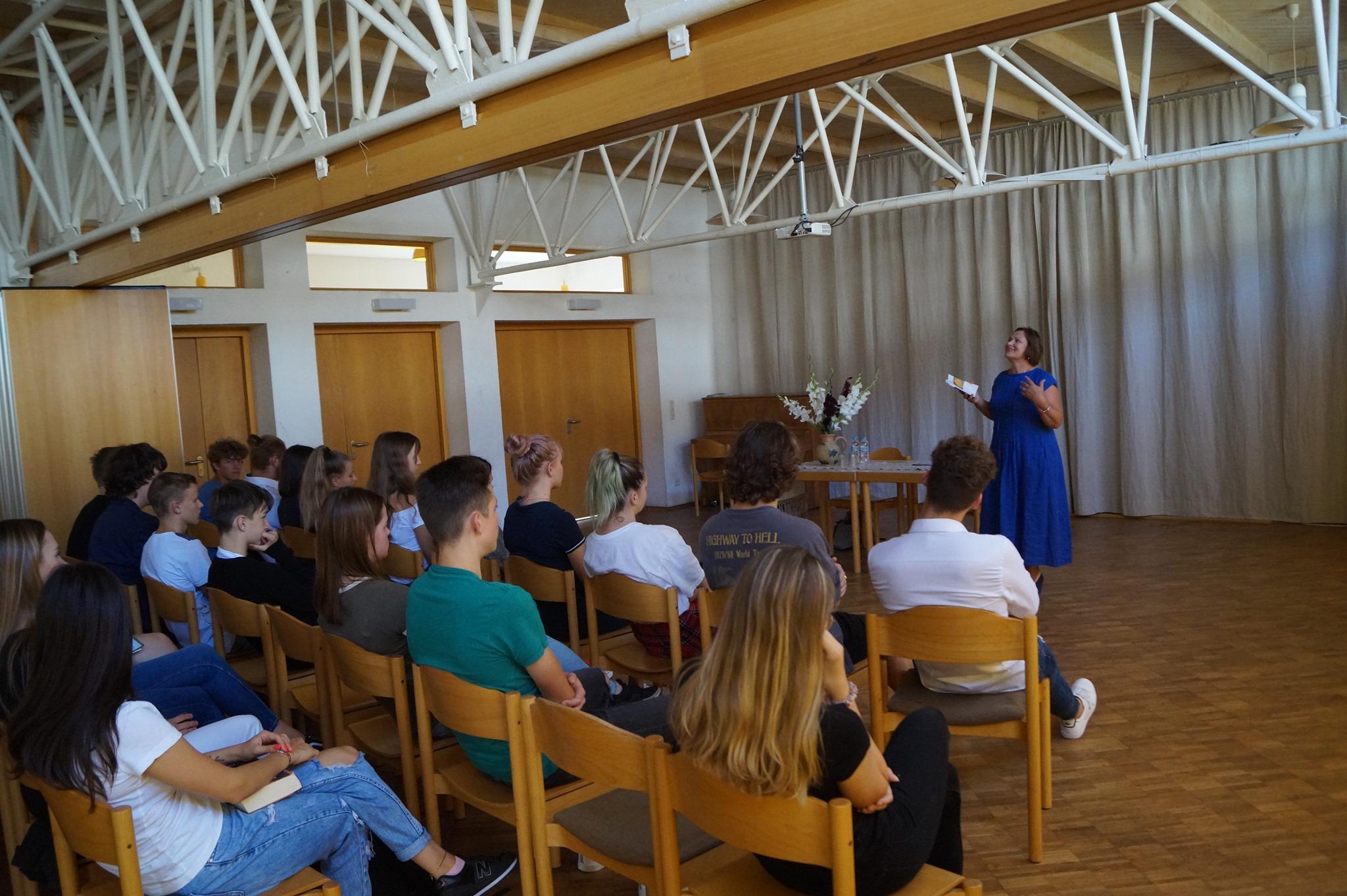 Treffen mit der litauischen Lyrikerin Nijolė Daujotytė-Kuolienė