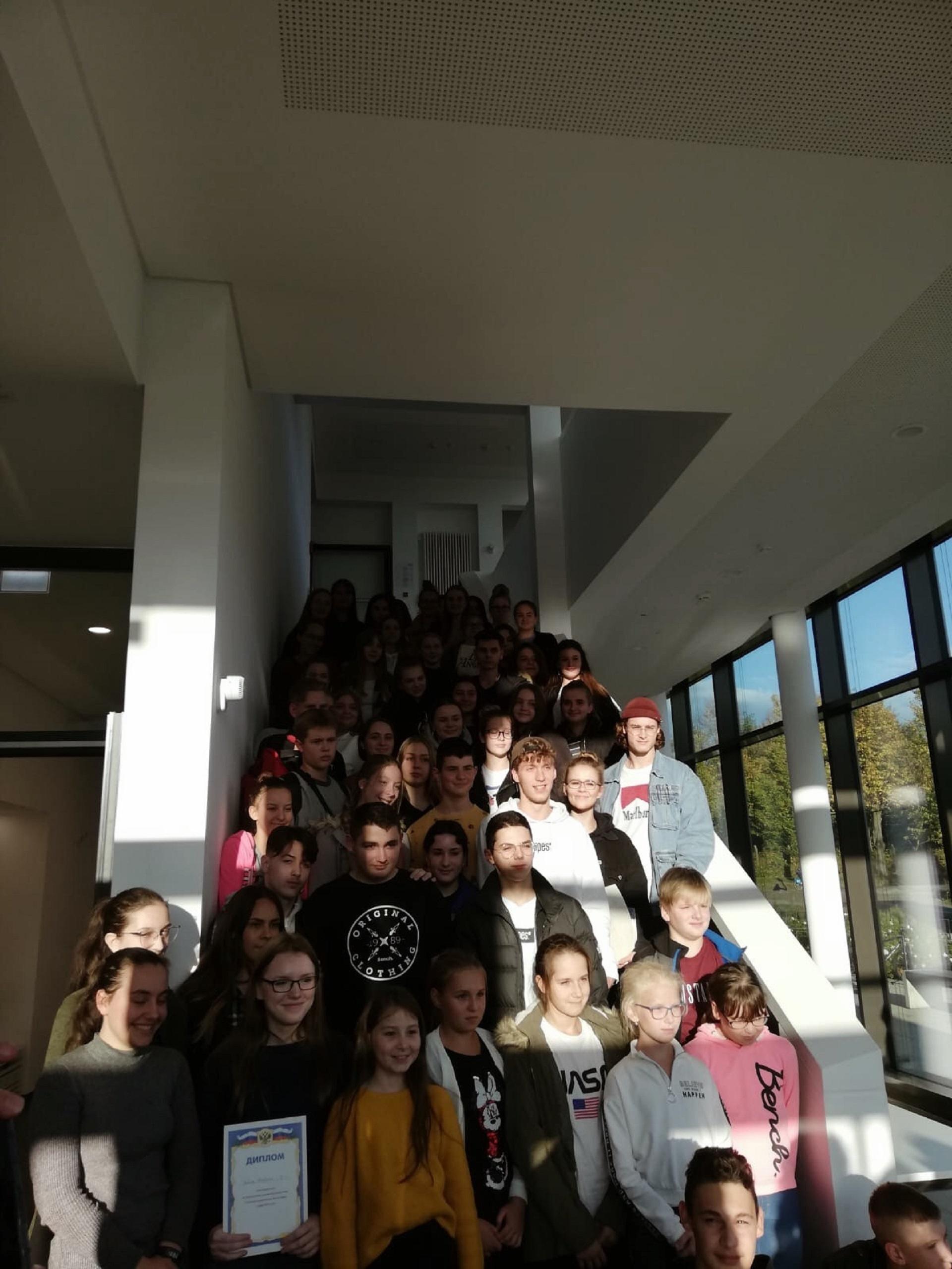 Gimnazistai 21-oje rusų kalbos olimpiadoje (Foto: M. Fiodorova)