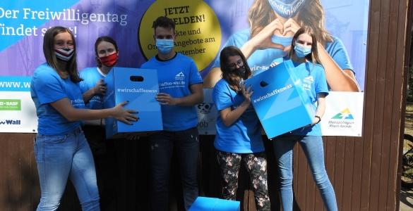 """Die T-Shirts sind angekommen – Endspurt zum Freiwilligentag 2020 am 19. September """"Wir schaffen was"""""""