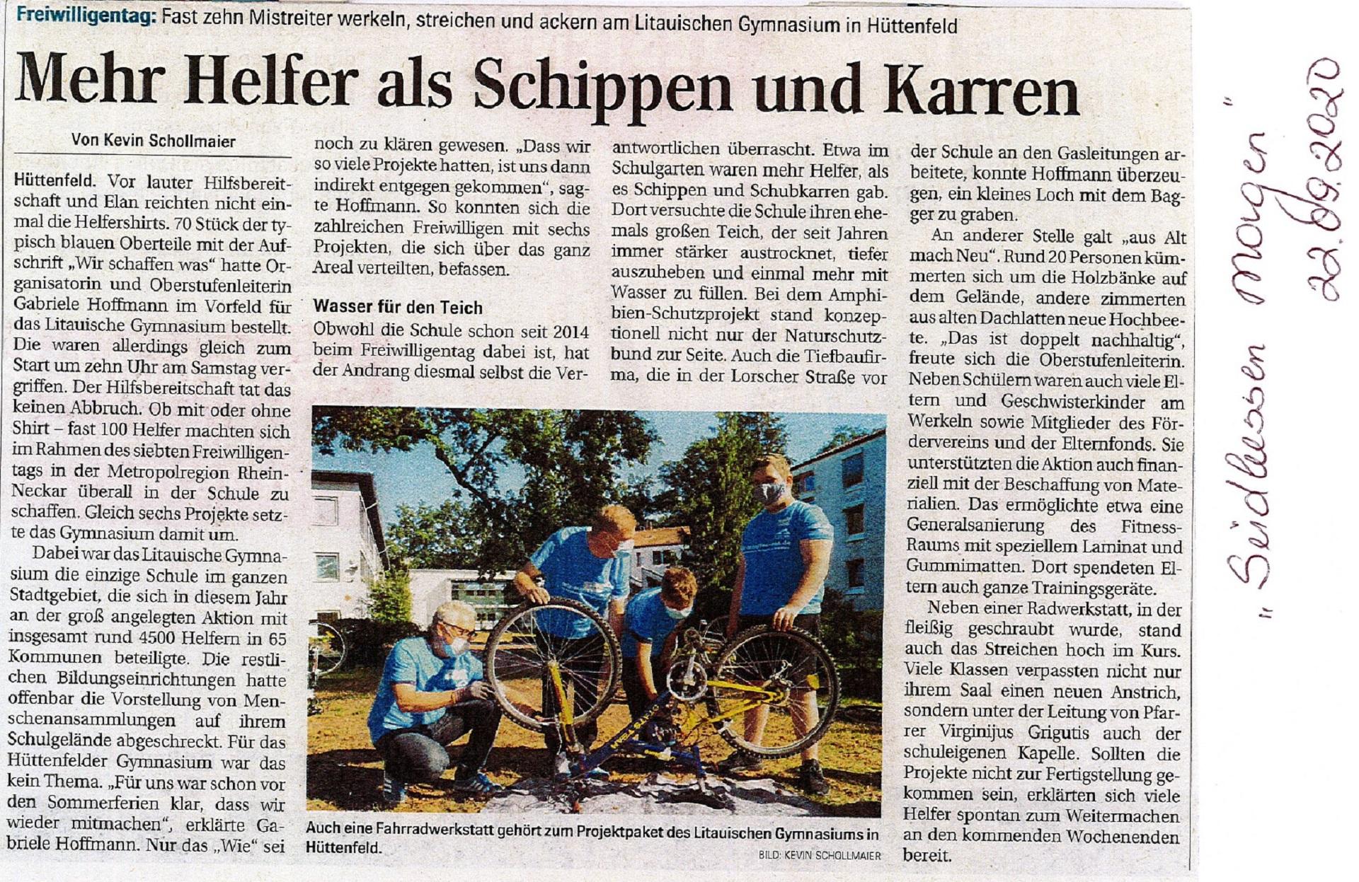 Freiwilligen Tag - Südhessen Morgen