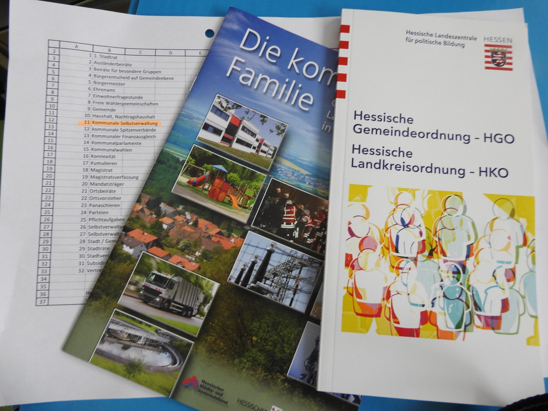 """Schülerinnen und Schüler präsentieren """"Kommunalpolitisches Lexikon"""" (Foto: Dr. G. Hoffmann)"""