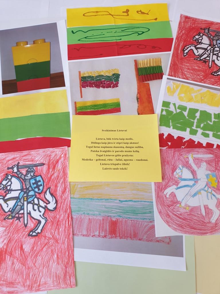 """Šeštadieninės mokyklos mokiniai sukūrė sveikinimą- plakatą ir dalyvauja konkurse """"Lietuva mano širdyje""""!"""