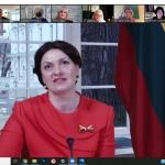 Virtualus susitikimas su pirmąja šalies ponia (Foto: J. Gečas)