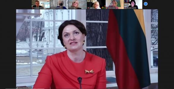 Digitales Treffen mit Litauens First Lady