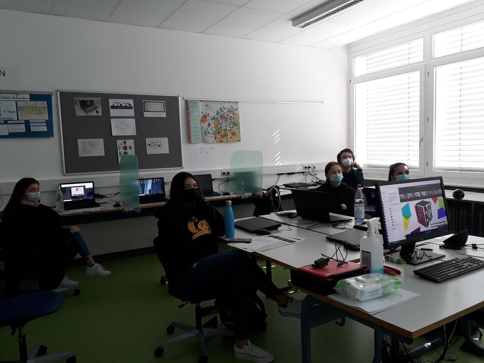 Werkstattgespräch am Schülermedientag (Foto: Dr. G. Hoffmann)