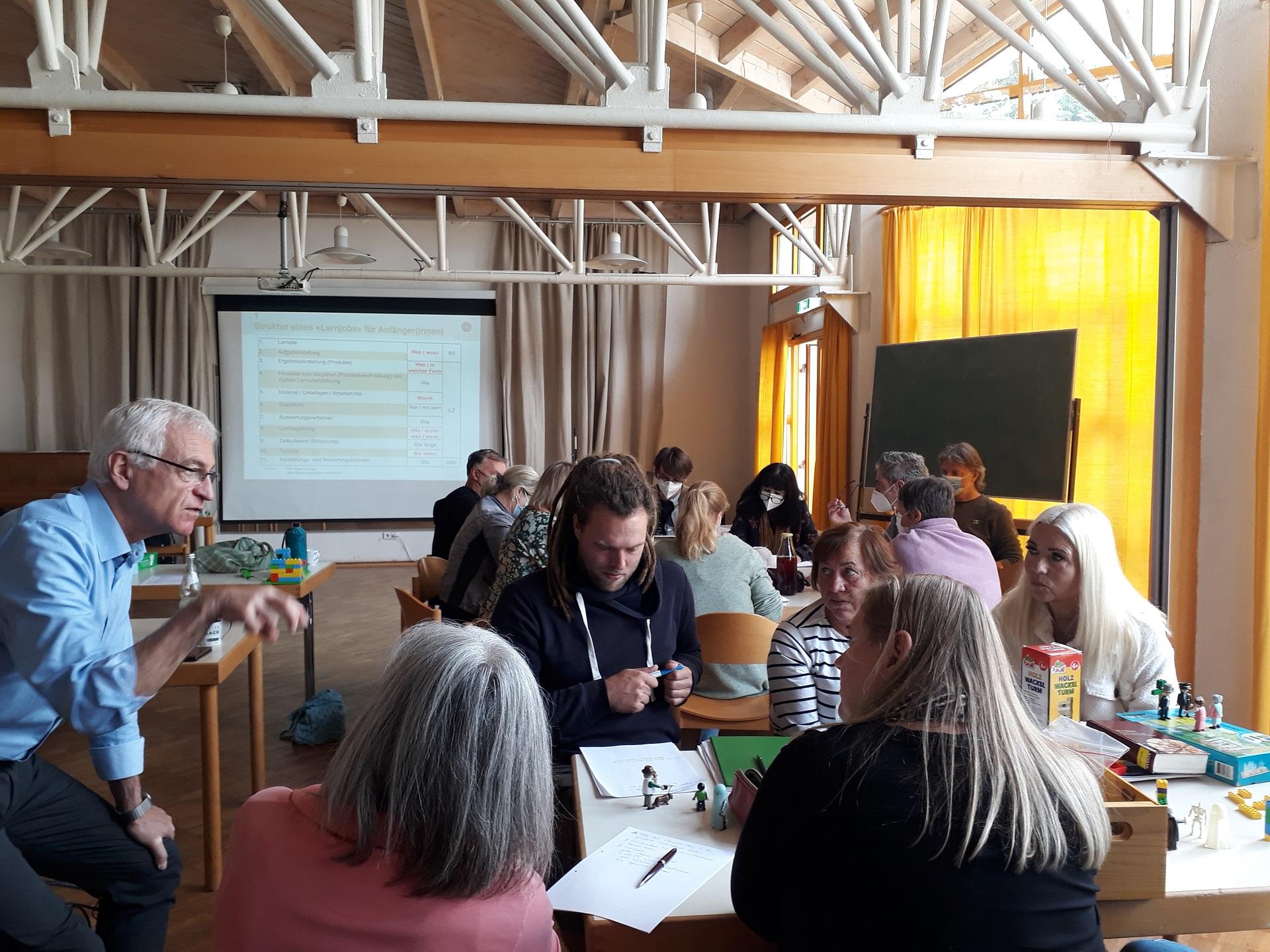 """Pädagogischer Tag 2021 - Mit """"Lernjobs"""" das selbstorganisierte Lernen fördern (Foto: Dr. G. Hoffmann)"""