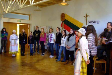 Feier anlässlich des 11. März – Tag der Wiedererlangung der Unabhängigkeit Litauens