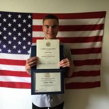 Abschluss USA Ruben Werle (Foto: R. Werle)