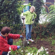 Schulgartenaktion (Foto: dr. A. Weber)