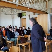 Susitikimas su režisieriumi Arvydu Barysu (Foto: A. D'Elia)