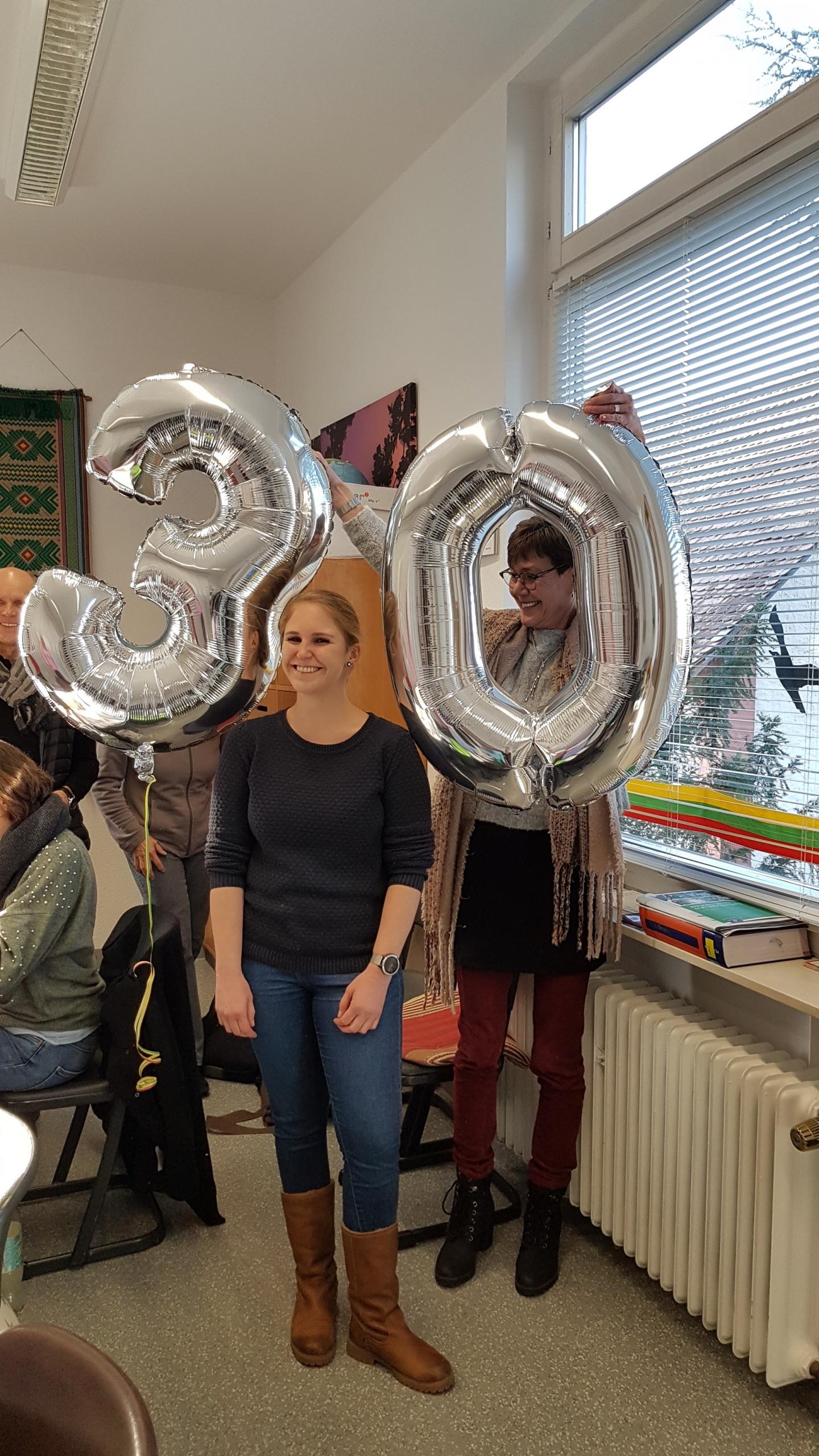 Im November feierte unsere Deutsch- und Englischlehrerin Patrizia Sauerzapf ihr 30-jähriges Jubiläum!