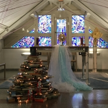 Koplyčia pasipuošusi šv. Kalėdų džiaugsmui (Foto: dr. V. Grigutis)