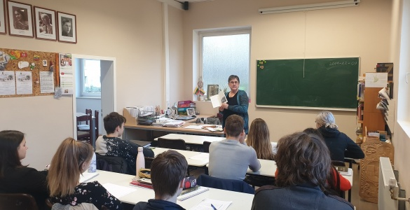Pamoka, skirta Vasario 16-osios gimnazijos 70-mečiui ir Lietuvos Nepriklausomybės atkūrimo 30-mečiui paminėti