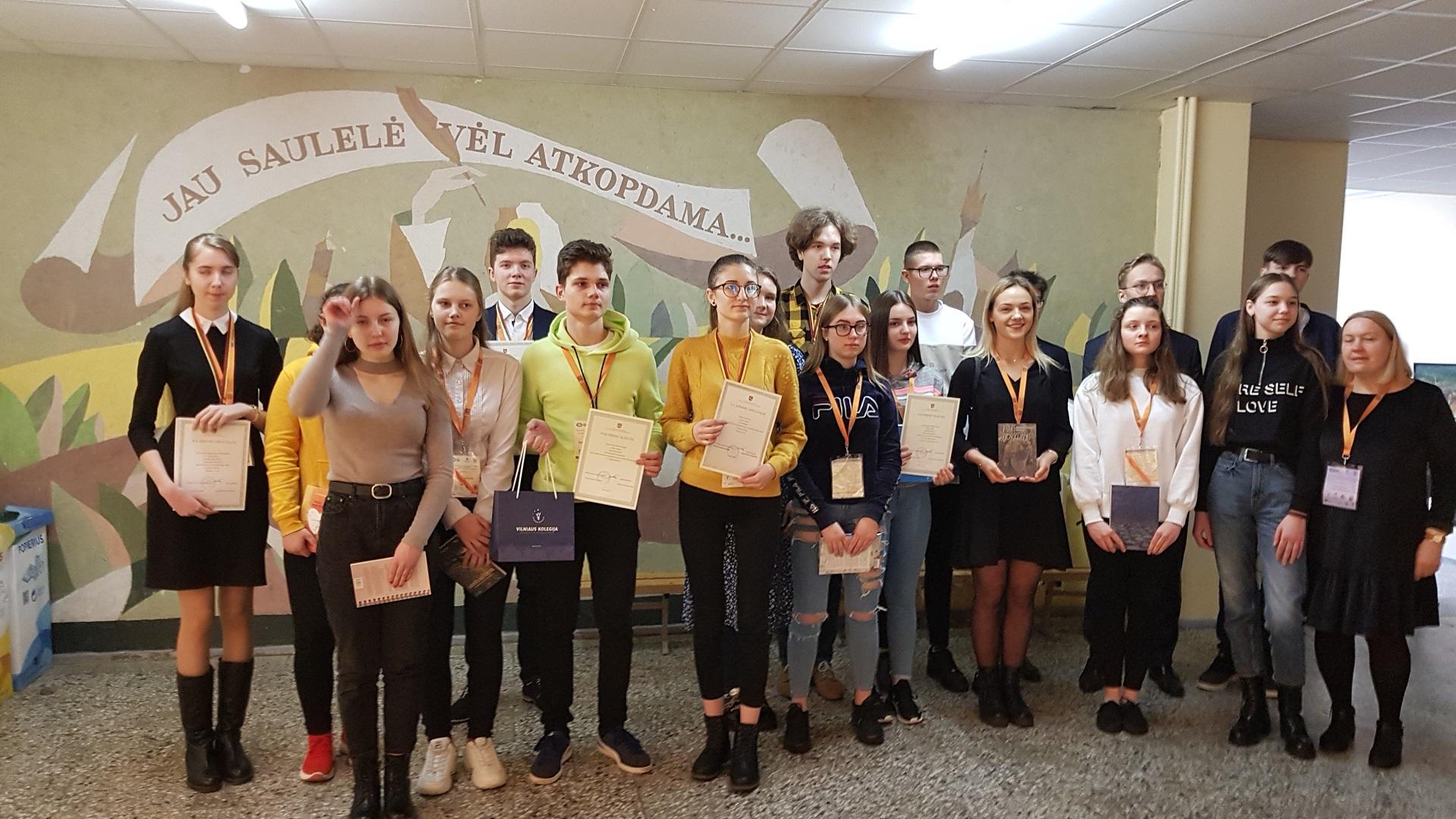 Puikus pasirodymas Lietuvių kalbos ir literatūros olimpiadoje
