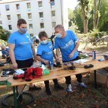 Ein Dankeschön von Herzen allen fleißigen Helferinnen und Helfer am Freiwilligentag 2020 bei uns im Litauischen Gymnasium (Foto: Dr. G. Hoffmann)