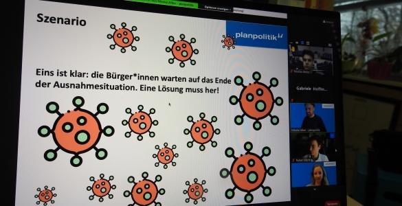 """""""Virenschutz auf Kosten der Freiheit?""""  – In einem Online Planspiel nach Lösungen suchen"""