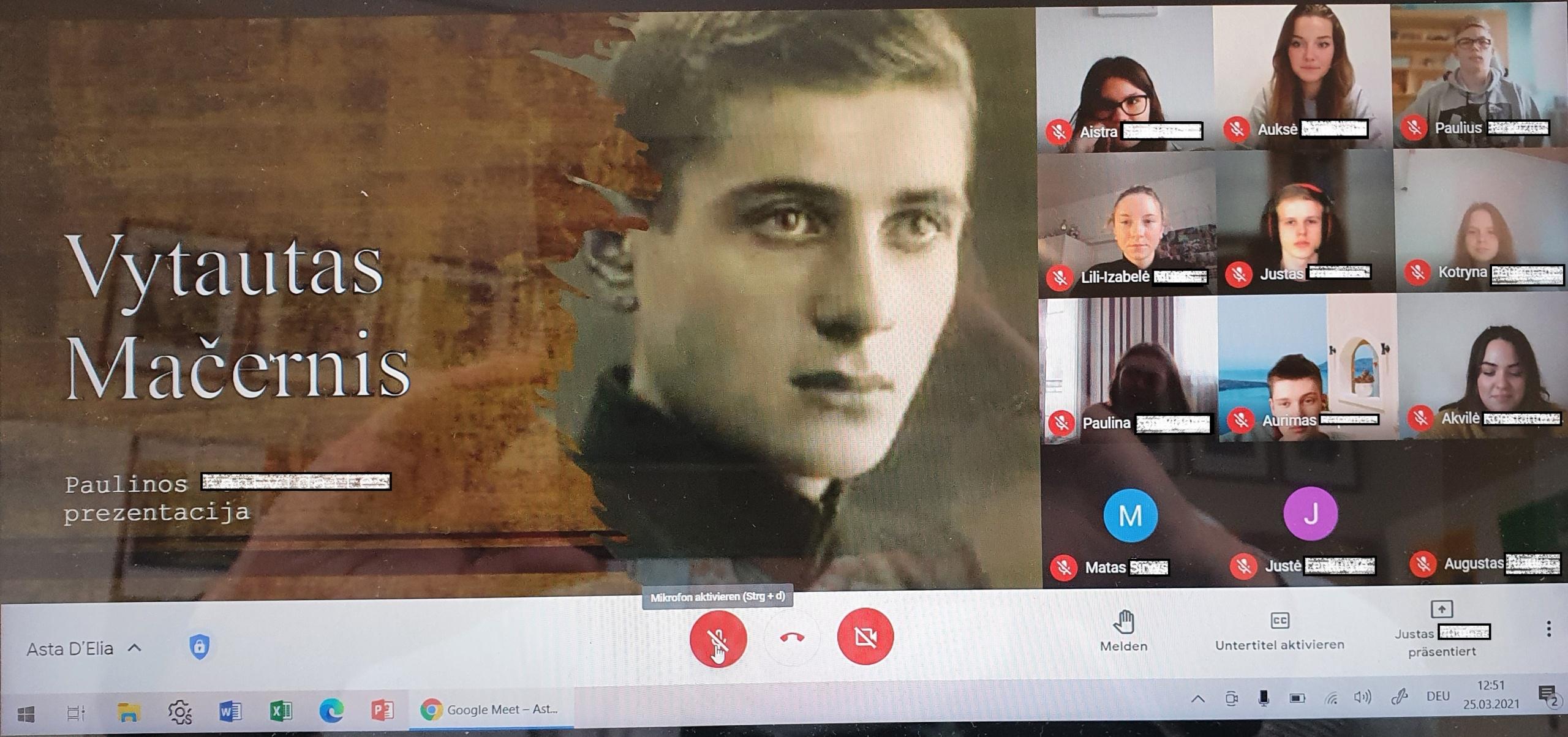 Zum 100. Geburtstag des Dichters Vytautas Mačernis