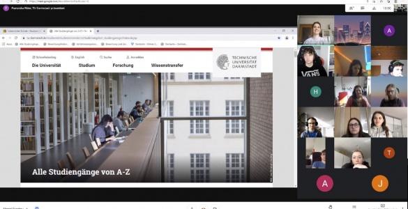 Virtualus susitikimas su Darmštato technikos universiteto studentais
